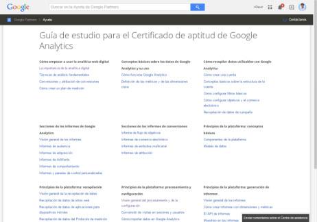 Guía de estudio para el Certificado de aptitud de Google Analytics