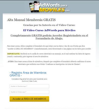 adwords para moviles registro