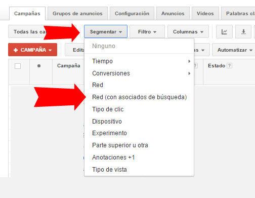 analizar los resultados de los socios de busqueda de google adwords