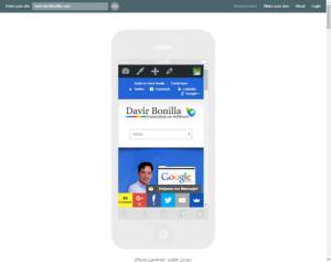 como se ve mi web en los moviles responsinator