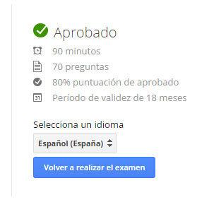 examen google analytics en español