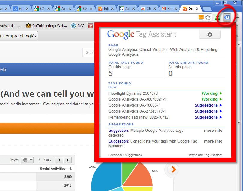 extension para verificar codigos de google