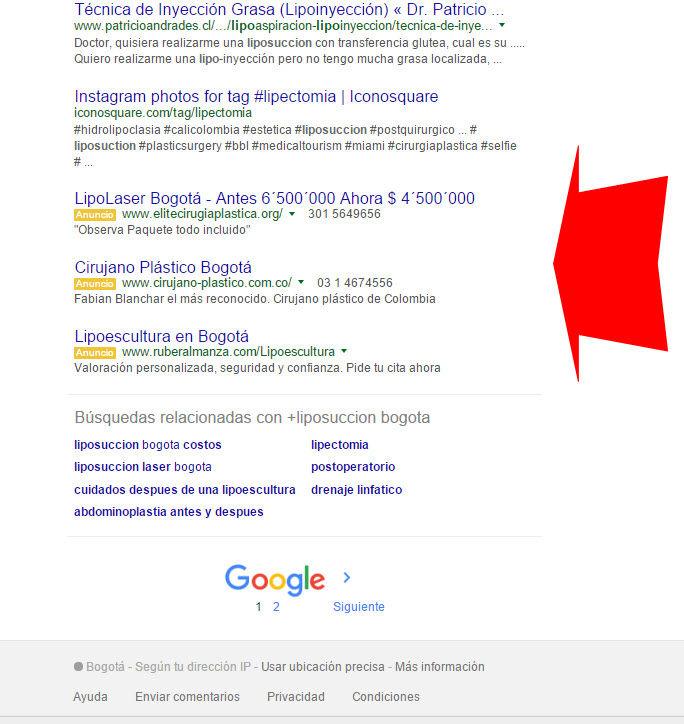 google alimina anuncios laterales y pone inferiores
