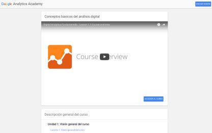 google analytics academia en español
