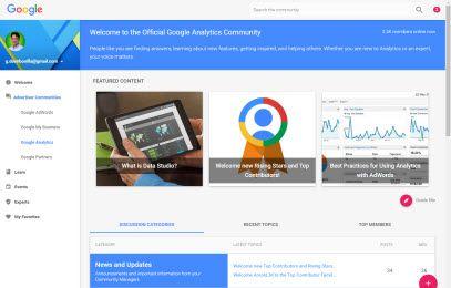 google analytics en la comunidad de anunciantes de google
