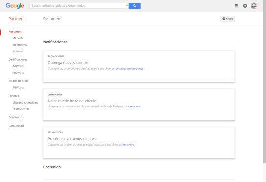 google partners para la certificacion en google analytics