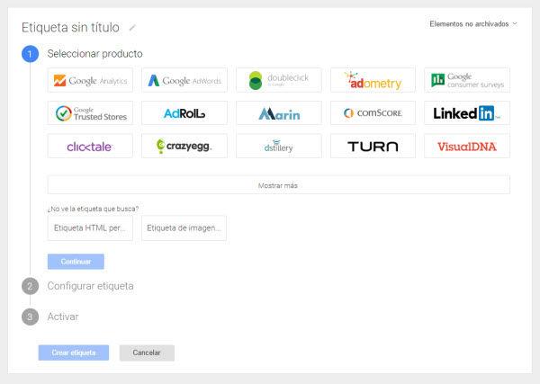 google tag manager distintos rastreos