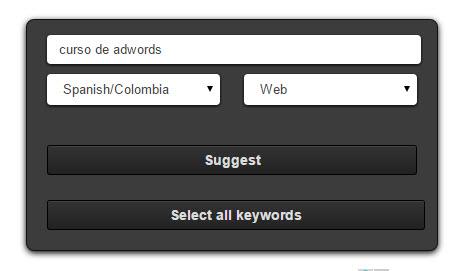 herramienta para ampliar las palabras clave