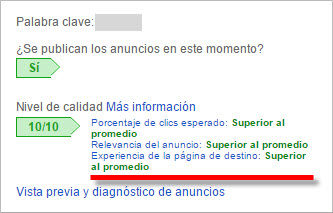 hosting y nivel de calidad de adwords