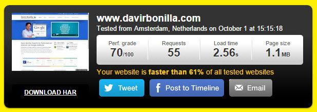 velocidad carga hosting nuevo
